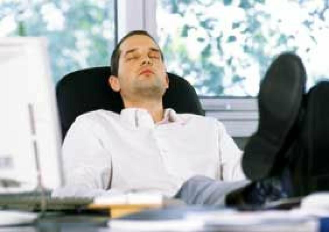 Sove på kontoret Colourbox