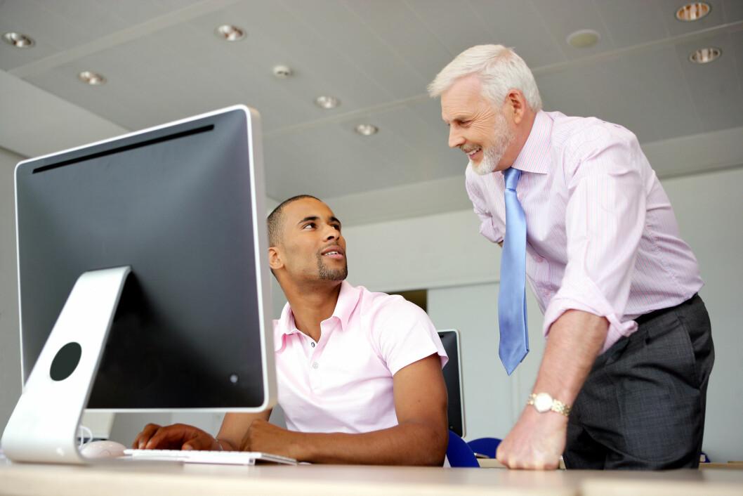 Colourbox senior pensjonist mentor