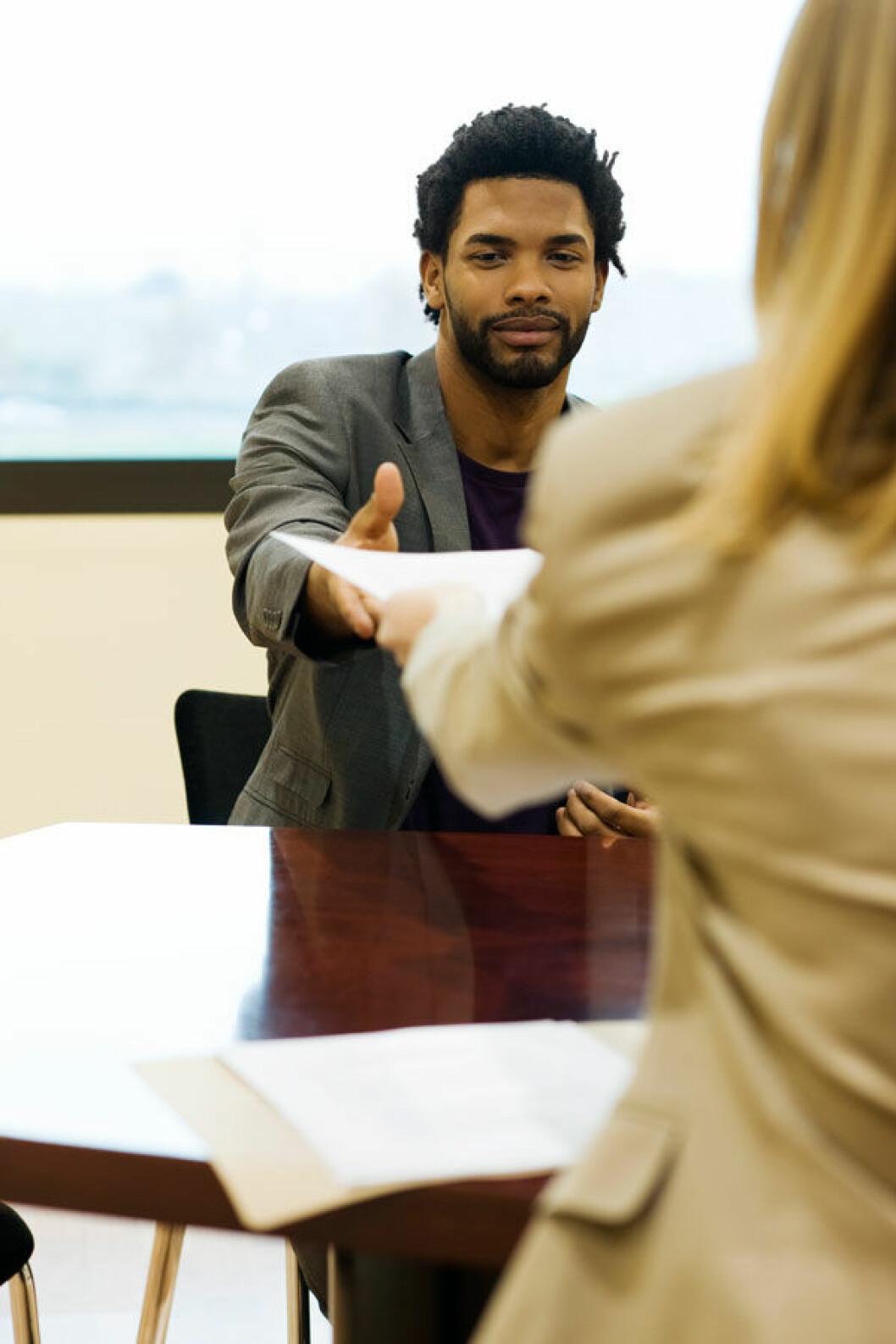 Jobbintervju-bord