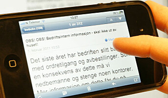 Mobiltap blir en trussel