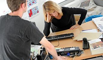 Sparrer med sjefen når ansatte er stresset
