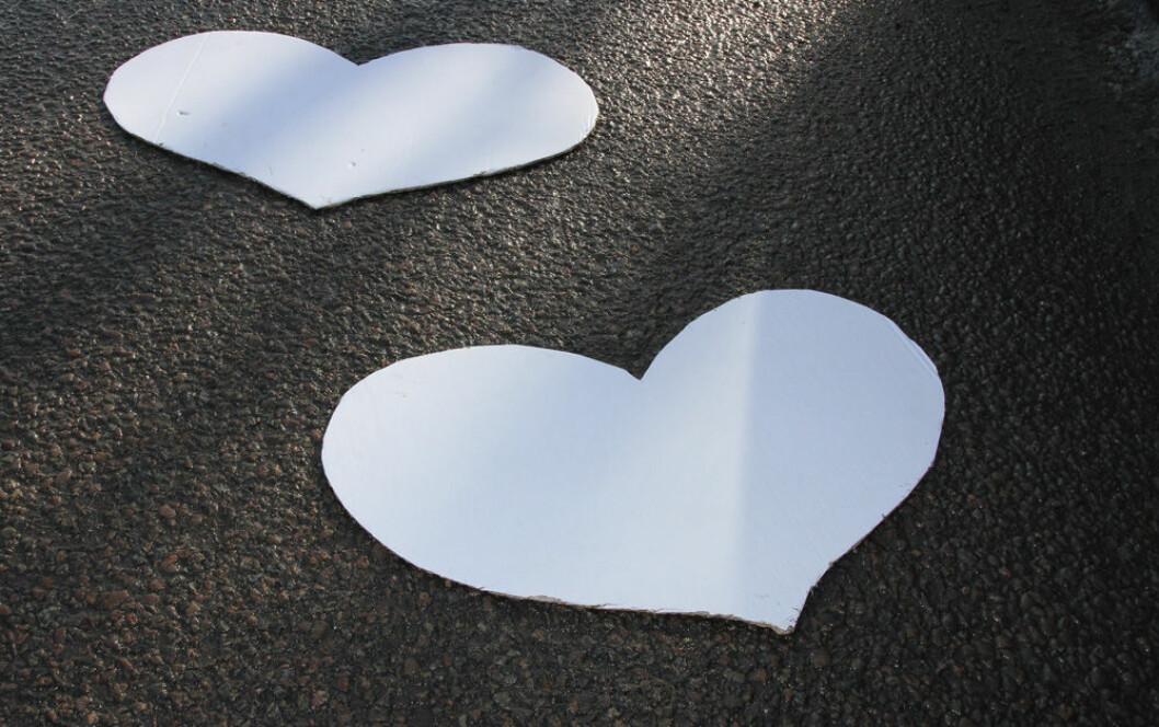 hjerter parforhold skilsmisse Ill.foto:Karine H. Henriksen