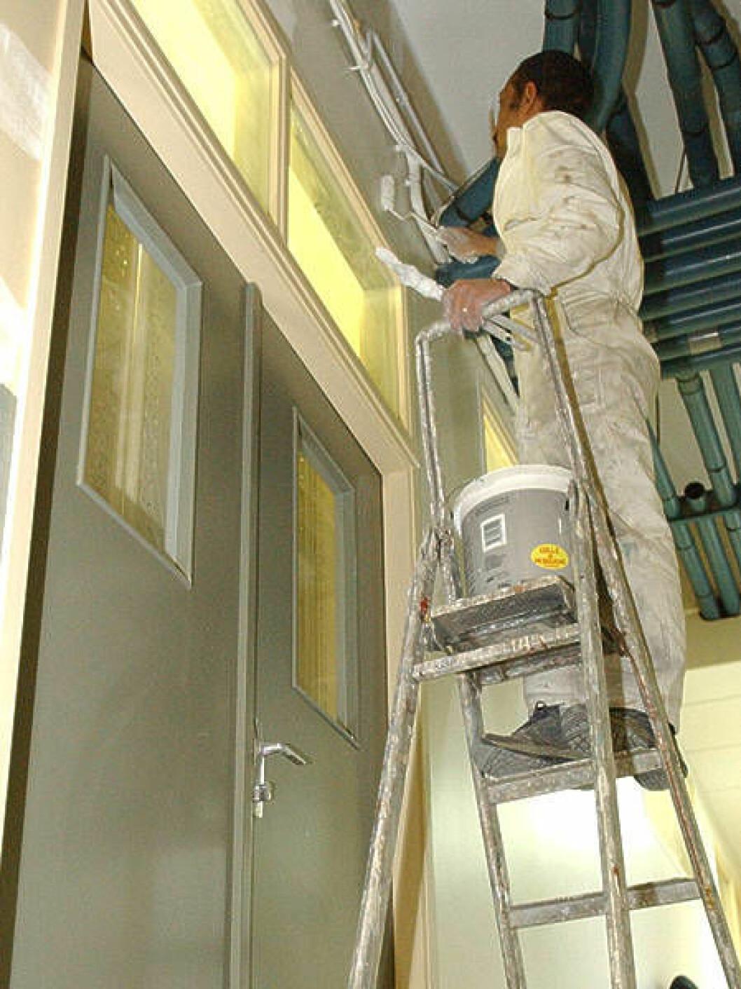 Farlig arbeid maler høyde