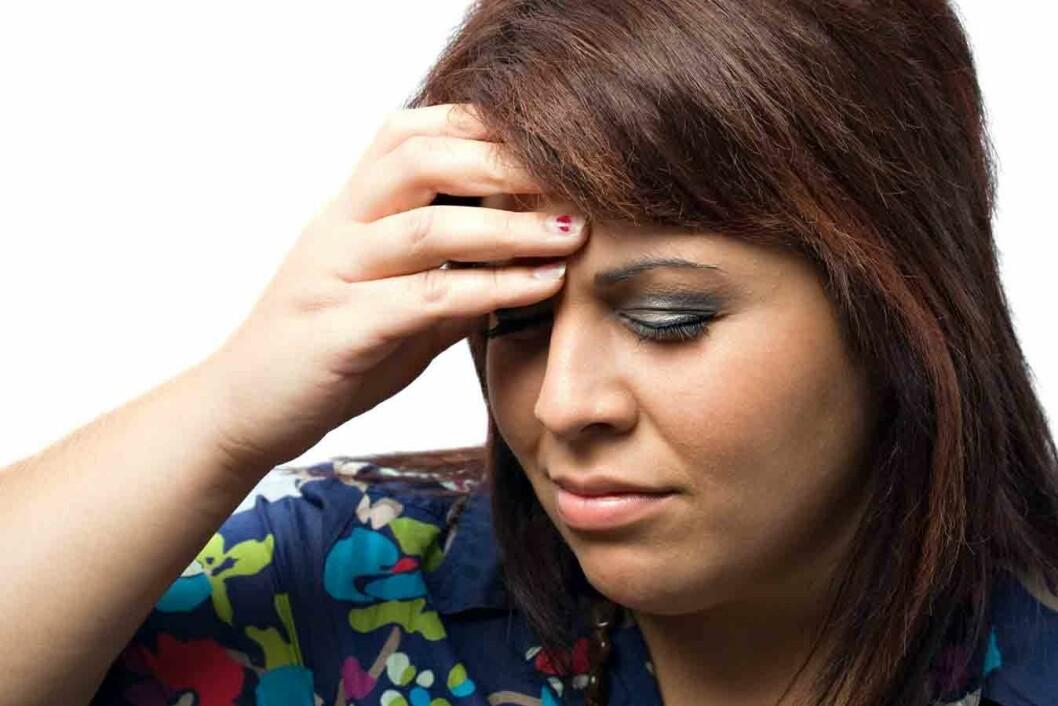 Kvinne-med-hodepine