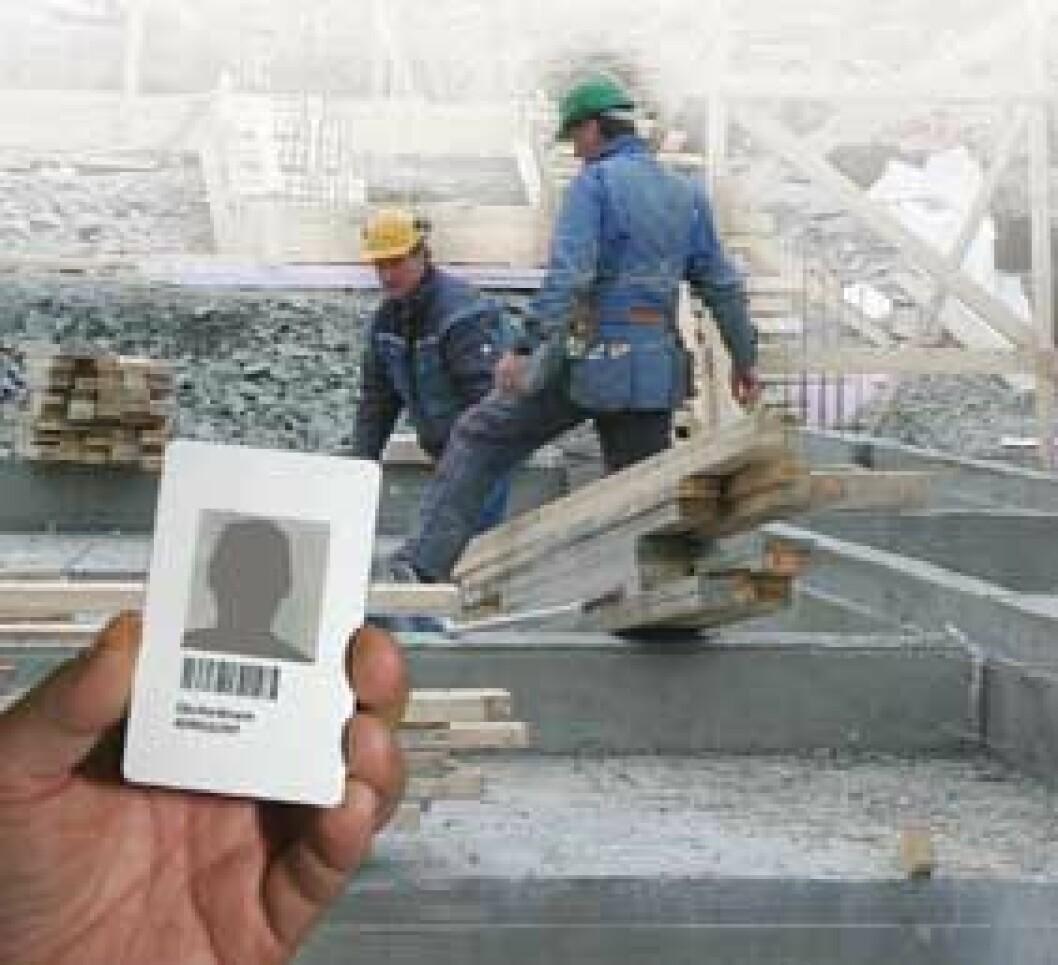 1. januar 2008 innføres id-kort på alle bygge- og anleggsplasser i Norge.
