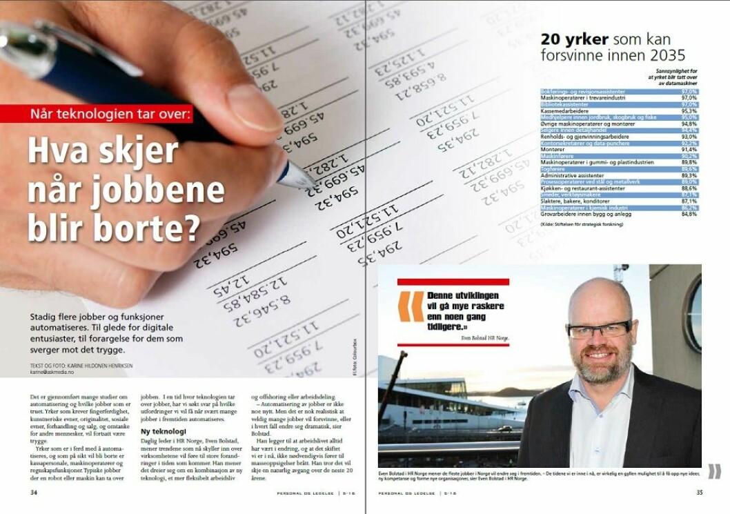 Reportasje i Personal og Ledelse nummer 5/2016.