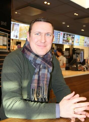 Erik Lødding, sjef for kommunikasjon og myndighetskontakt i McDonald's Norge.(Foto: Karine H. Henriksen)