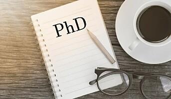 Laveste antall doktorgrader på fem år