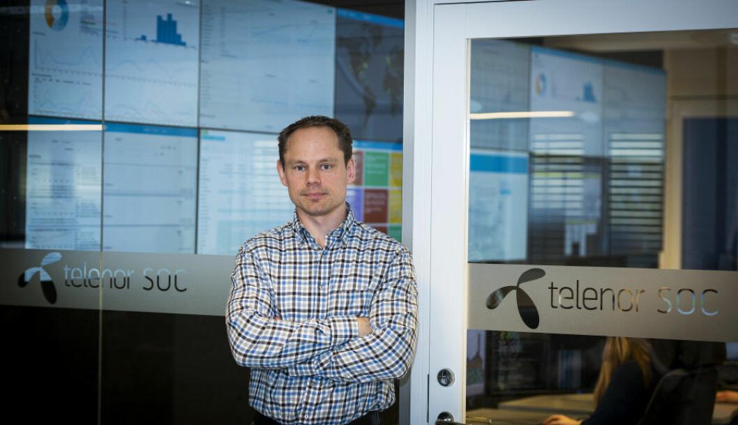 – I det nye året vil vi se enda mer kreativ misbruk av cyberspace, sier leder for Telenors sikkerhetssenter (TSOC) i Arendal, Gunnar Ugland.