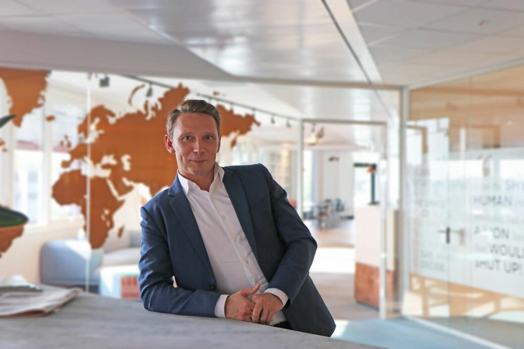 Mads Wildhagen er markedssjefen i Academic Work . (FOTO: ACADEMIC WORK)