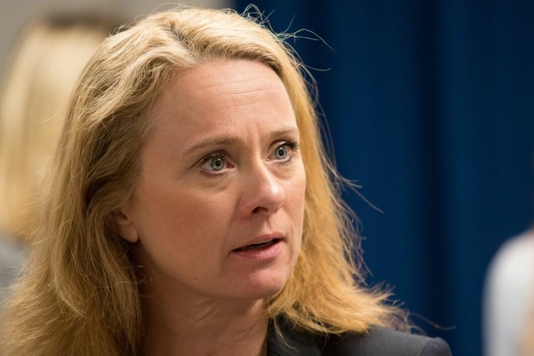 Arbeids- og sosialminister Anniken Hauglie. (Foto: Jan Richard Kjelstrup/ASD)