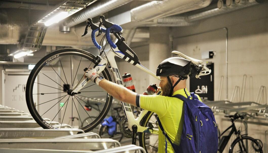Oslo kemnerkontor er blant arbeidsplassene som har god tilrettelegging for at de ansatte skal kunne sykle til jobben.