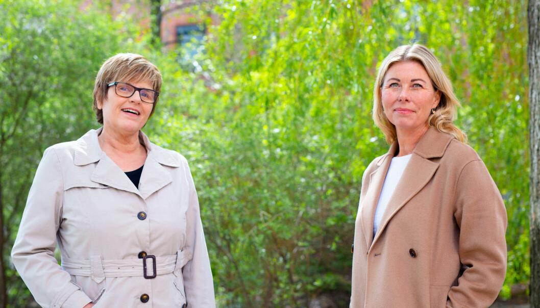 Bodil Innset (f.v) og Cecilie Slettvoll Martinsen, begge karriereveiledere ved OsloMet, har råd til deg som er nysgjerrig på å ta etter- og videreutdanning.
