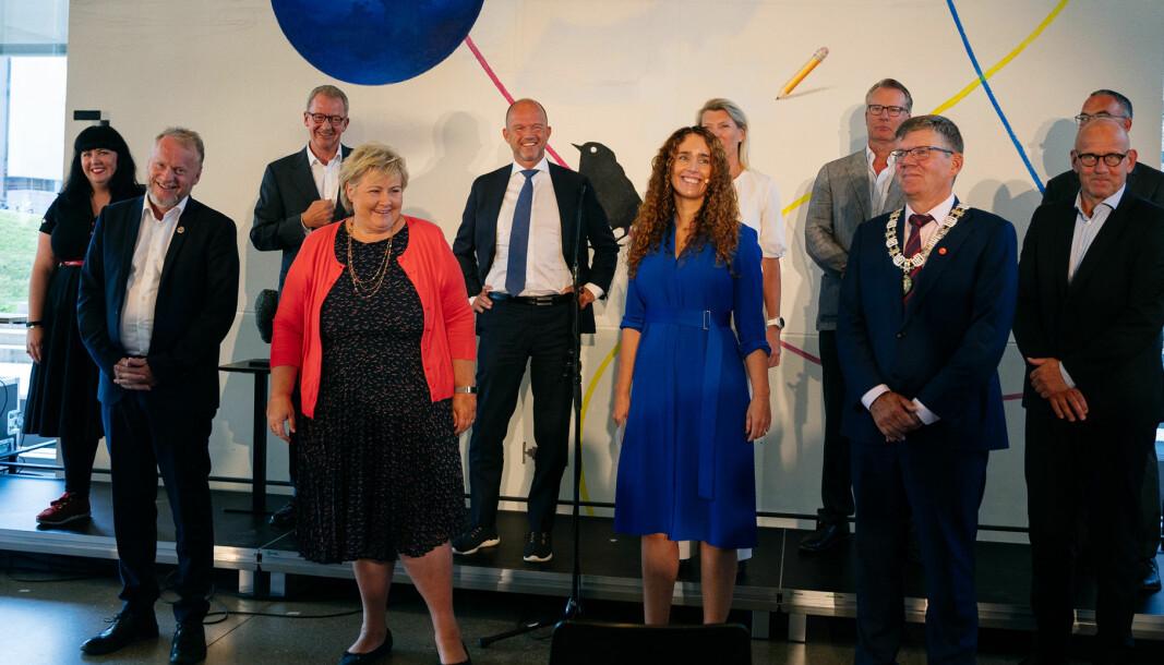 Sammen med statsministeren og inviterte gjester fra forskning, næringsliv og forvaltning deltok NGI på den offisielle åpningen av Oslo Science City.