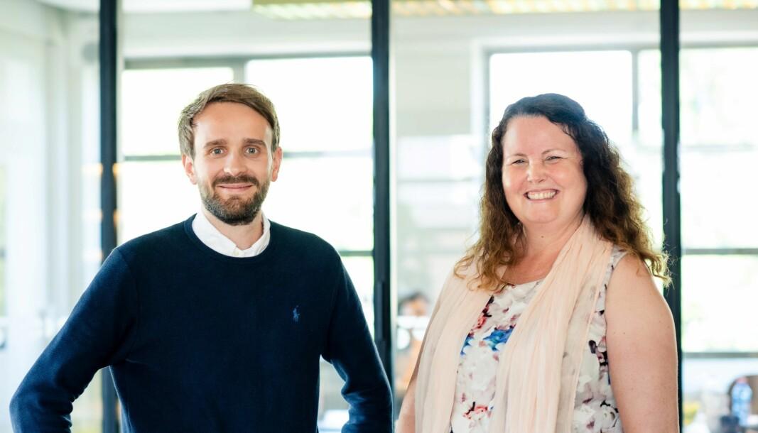 Nytt medlem i konsernstyret i Vestre, Sylvia Brustad. Her med administrerende direktør Jan Christian Vestre.
