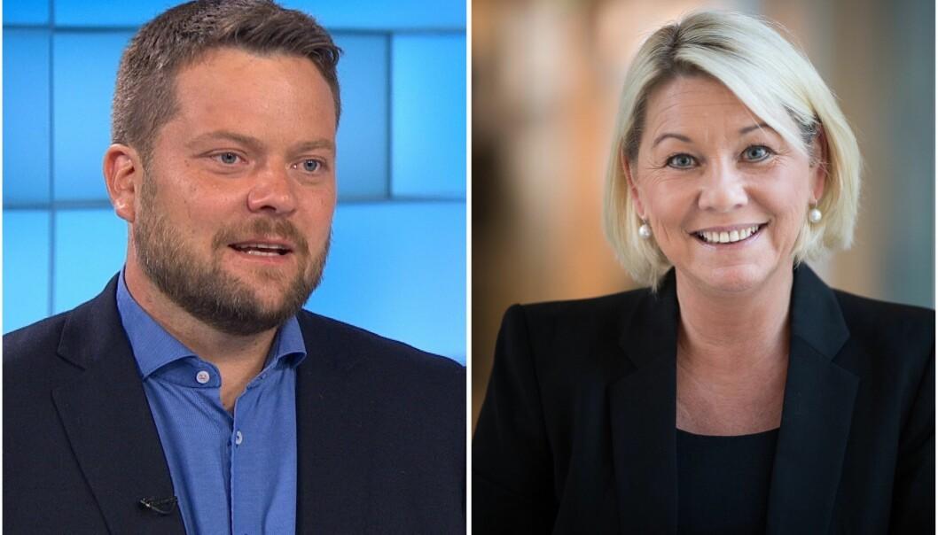 Roger Sevrin Bruland og Monica Mæland.