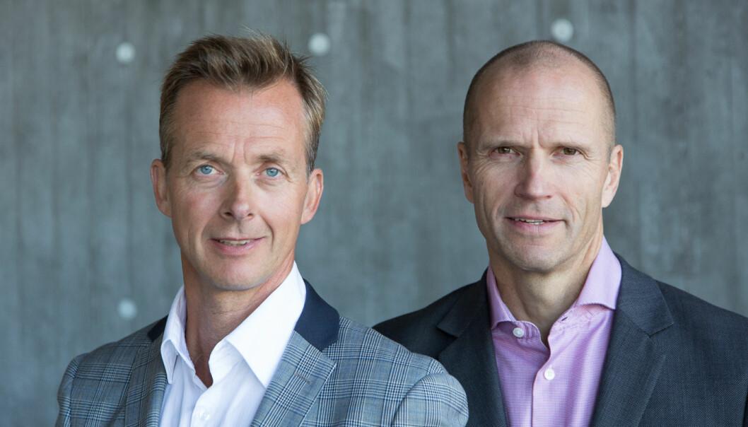 Ole Asbjørn Solberg (t. v.) og Joar Skjevdal i Lidmi Consulting har laget en grundig studie om temaet hva ledere strever med i hverdagen.
