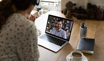 Minst 40 prosent av de fysiske møtene ble digitale i 2020