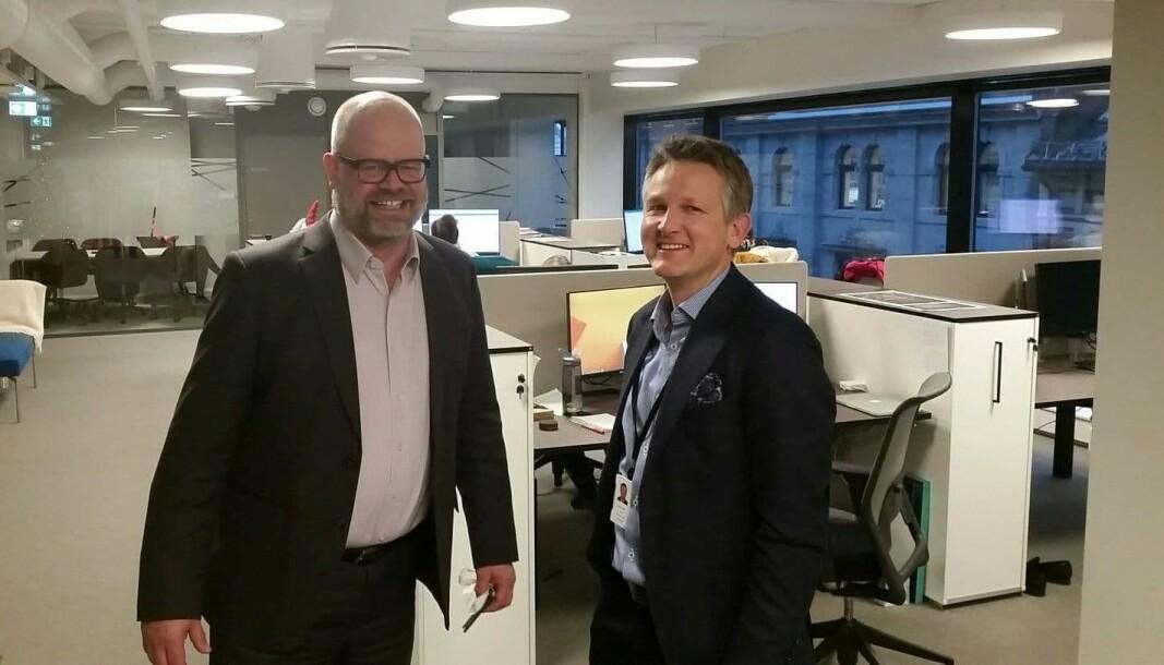 Associate partner i EY, Bjørnar Løwe Skas (t.h.) og daglig leder i HR Norge, Even Bolstad.