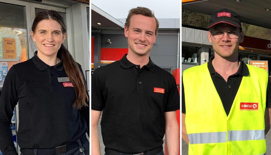 Både Kristin Olsen Antal-Karlsen, Kristian Bertelsen og Mattias Høiland har gjort lynkarriere i Circle K etter å ha fullført selskapets talentprogram.